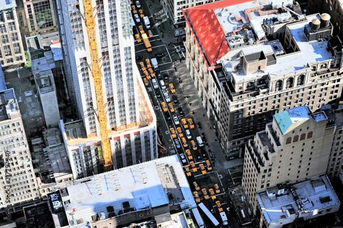 Deurstickers New York City Aerial view of rush houre traffic in Manhattan New York City