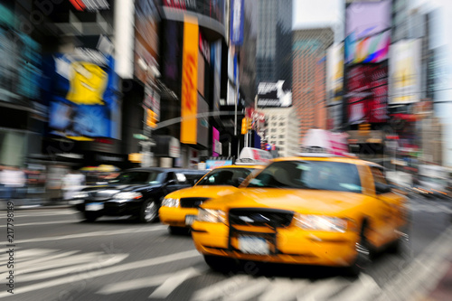 Staande foto New York TAXI Yellow taxi cabs in Manhattan New York City