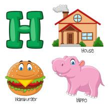 Illustration Of H Alphabet