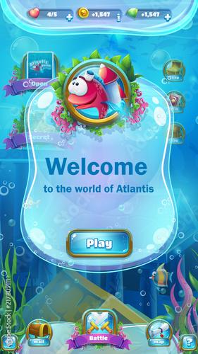Atlantis ruins - mobile format playing field window