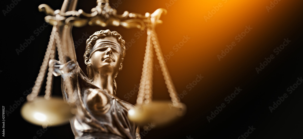 Fototapeta Themis Statue Justice Scales Law Lawyer Business Concept