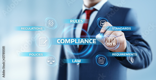 Valokuva  Compliance Rules Law Regulation Policy Business Technology concept