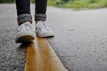 Women Walking On Street In The...