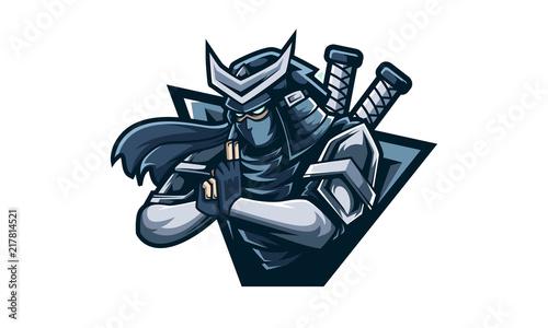 Fotografía Ninja Logo,  feel free to adding you own logo text to the logo