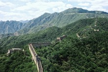 One Of The Most Intact Section Of The Great Wall Of China Close To The Mongolian Border