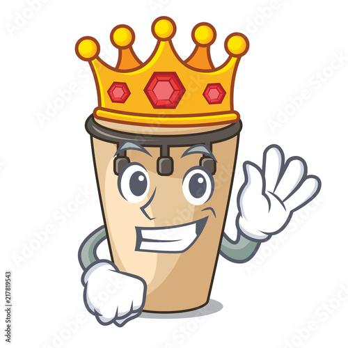 Fotobehang Indiërs King conga mascot cartoon style