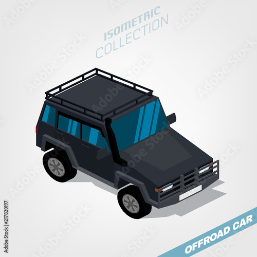 Photo  Offroad Car Isometry