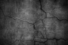 Black Cement Wall. Dark Textur...