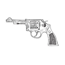 Smith & Wesson, Hand Drawn Doo...