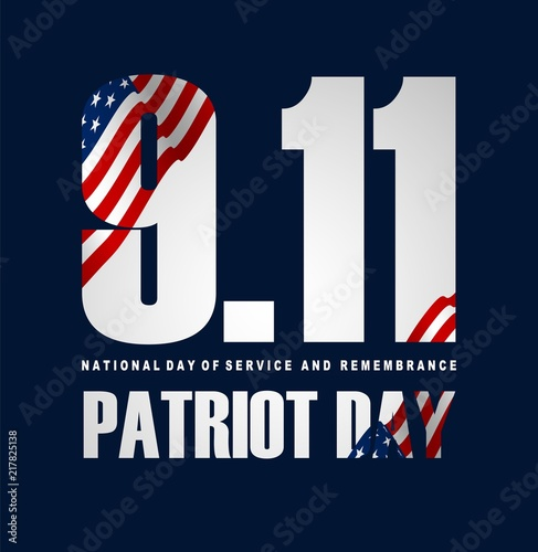 Illustration of Patriot Day Poster Canvas Print