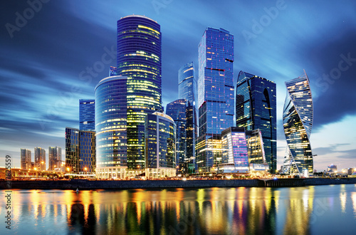 Obraz Moscow City Skyline Moscow International Business