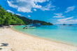 Beautiful Tropical Beach blue ocean backgrouind Summer view Sunshine at Sand and Sea Asia Beach Thailand Destinations