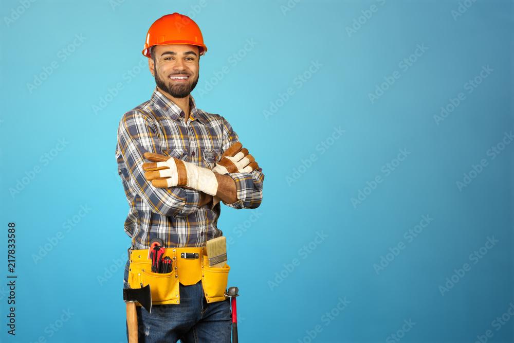 Fototapeta male construction worker