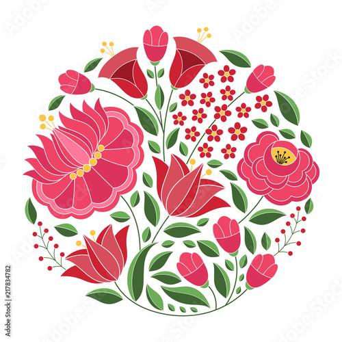Fotografía Hungarian folk pattern vector