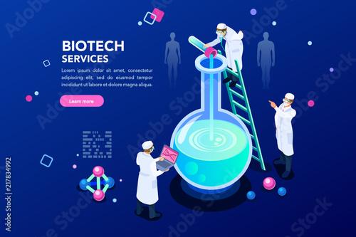 Health and biochemistry laboratory of nanotechnology Canvas Print
