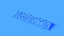 Blue Slim Computer Keyboard 3d...