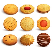 Cookies Realistic Set
