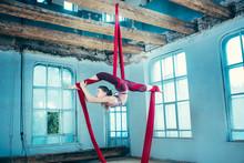 Graceful Gymnast Performing Ae...