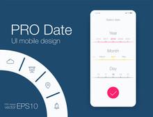 Date Application UI Design Con...