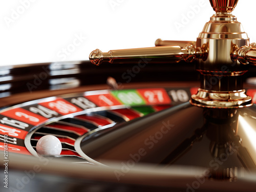 фотография  Casino gold roulette close up