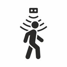 Motion Sensor Icon, Walking Man
