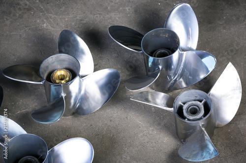 Steel boat propeller