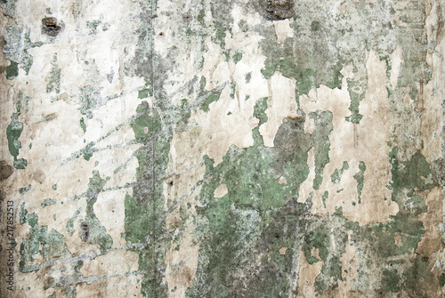 Fotoposter Oude vuile getextureerde muur Texture of old gray concrete wall for background