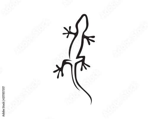 Photo  Lizard Chameleon Gecko Silhouette black vector black