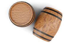 3D Illustration Two Wooden Bar...