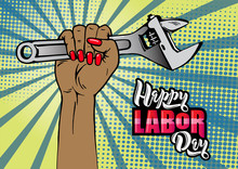 Happy Labor Day Lettering. Car...