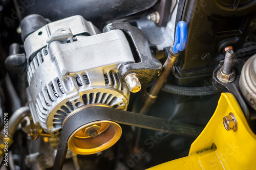 Photo Close up Dynamo Charger installed car