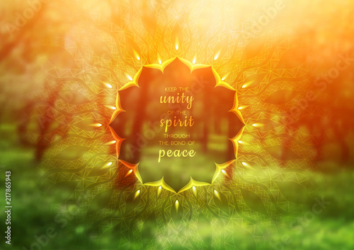 Vector template of banner with inspirational phrase