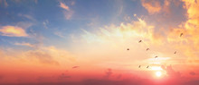 Background Of Colorful Sky Con...