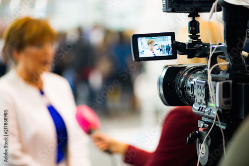Fotografía Media interview