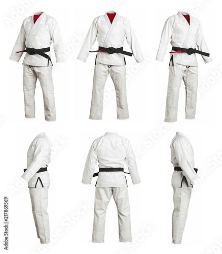 Fotografie, Obraz different angle sports kimono for training, isolated on white background