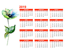 Template For Calendar 2019 Wit...