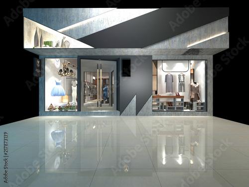 Foto  3d render of fashion shop exterior