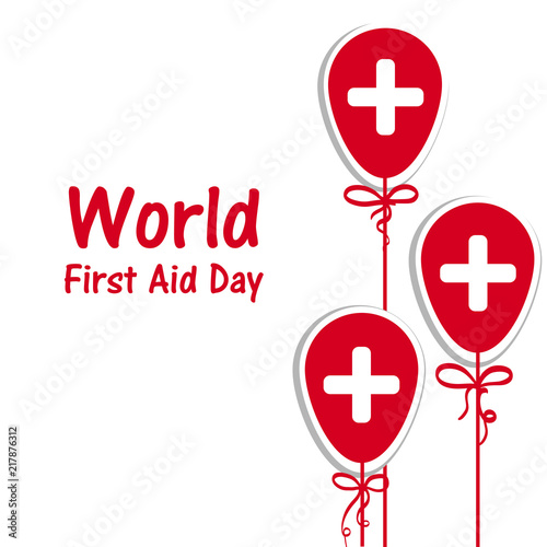 World First Aid Day with  Design illustration greating card - Buy