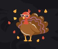 Autumn Turkey Illustration On ...