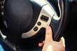 girl and Steering wheel