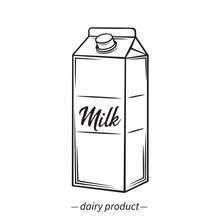Outline Milk Carton Icon
