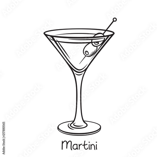 Fotomural  martini cocktail with olives