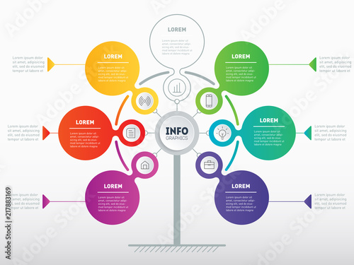 Business Presentation Or Infographics Concept With 6 Or 7 Options