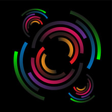 Abstract Circle On Dark Backgr...