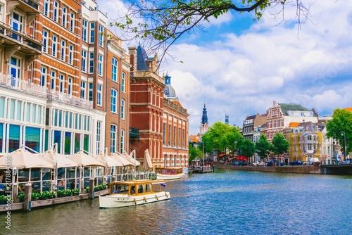 Fototapeta Amsterdam nabrzeza-amsterdamu
