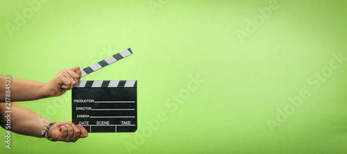 Stampa su Tela film production, Clapper , Casting, chroma key ,  director ,