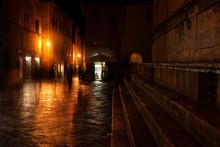 Old European Illuminated Stree...