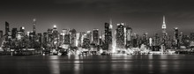 Panoramic Black & White View O...