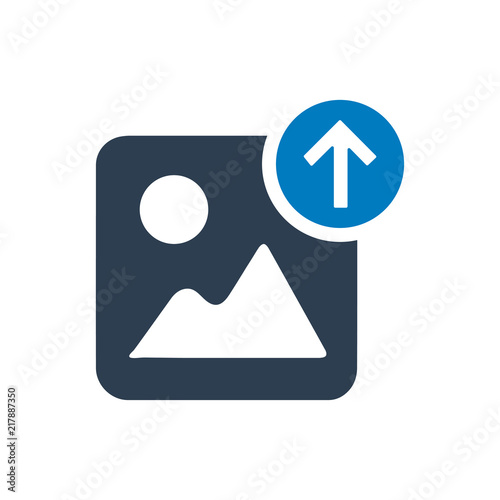 Image Upload Icon Wall mural