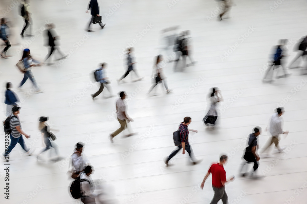 Fototapety, obrazy: group of people in the lobby business center